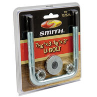 "Smith Zinc-Plated U-Bolt, 3""L x 3-1/8""W"