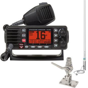Standard Horizon Eclipse GX1300 Class D VHF Package, Black, w/Antenna & SS Mount