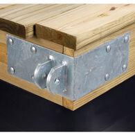 """Standard-Grade 3/16"""" Floating Dock Hardware - Female Outside Corner"""