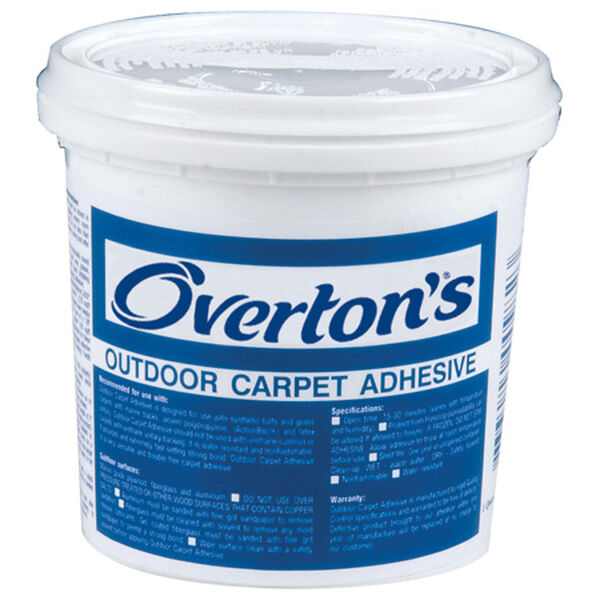 Overton's Indoor/Outdoor Do-It-Yourself Carpet Adhesive, quart