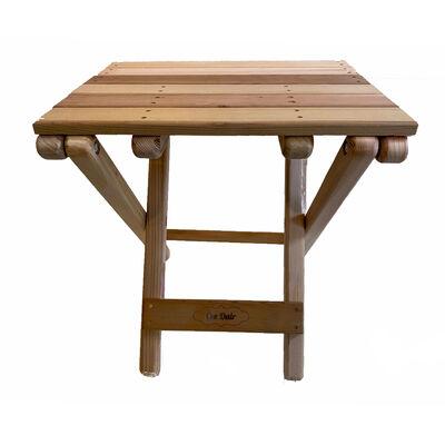 Cedar Wood BeachSide Table, Unfinished