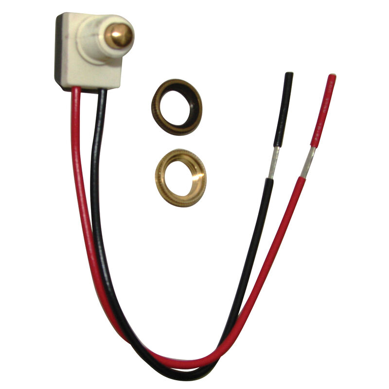 Push Button Switch, On/Off, Gold image number 1