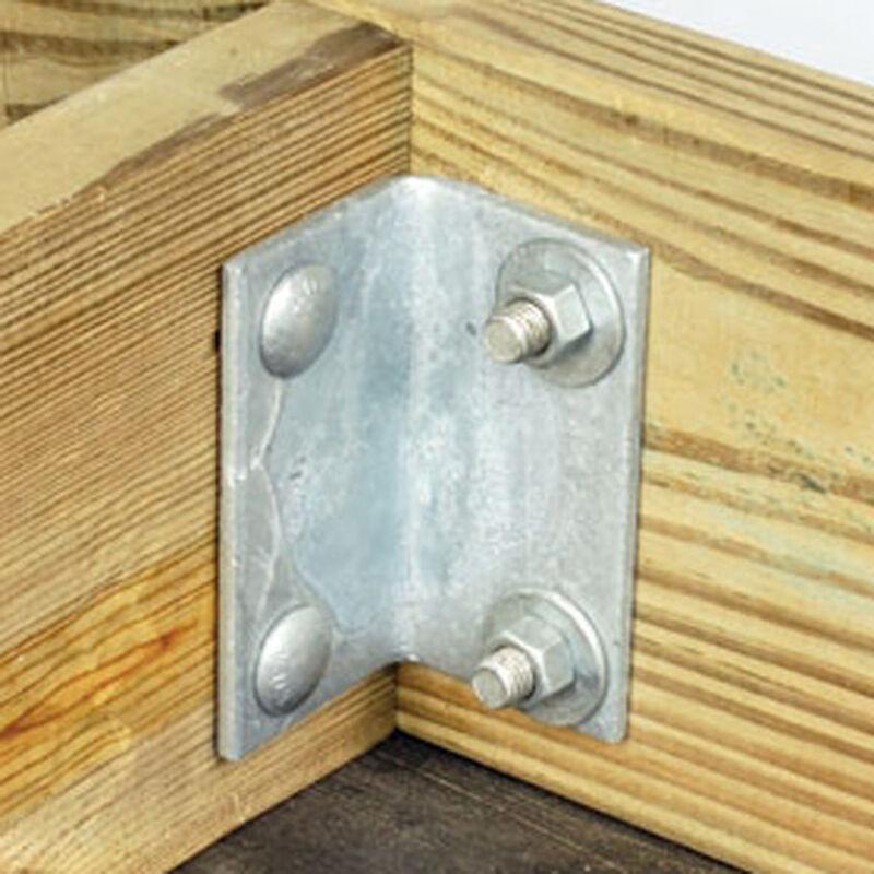 "Commercial-Grade 1/4"" Floating Dock Hardware - Angle image number 1"