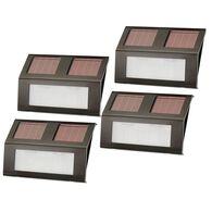 Nature Power Bronze Solar-Powered Step Lights 4-Pack