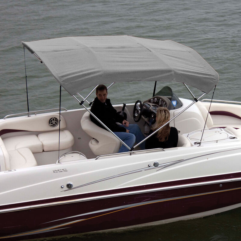 """Shademate Bimini Top Polyester Fabric and Boot Only, 4-Bow 8'L, 42""""H, 61""""-66""""W image number 3"""