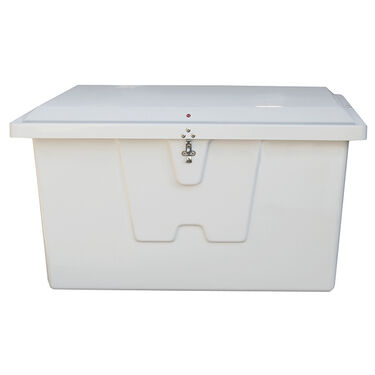 "Stow 'N Go Fiberglass Dock Box White Deep Small (27""H x 46""W x 26""D)"