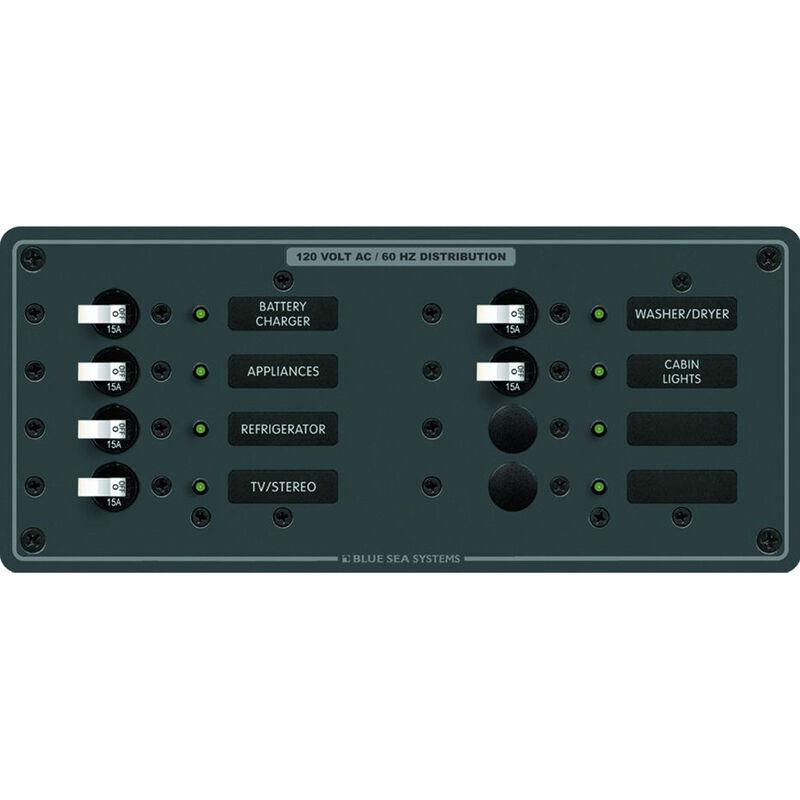 Blue Sea 120V AC Branch Circuit Breaker Panel, Model 8411 image number 1