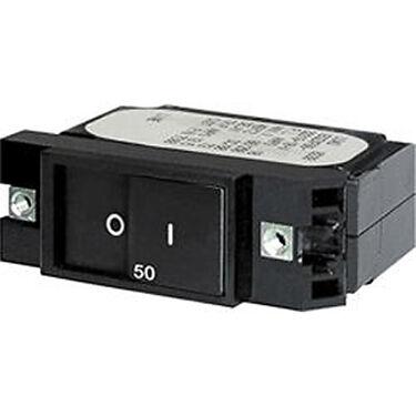 Blue Sea AC/DC Circuit Breaker A-Series Flat Rocker Switch, Single Pole, 40A