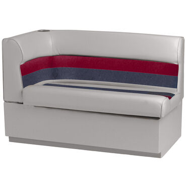 Toonmate Deluxe Pontoon Corner Couch with Toe Kick Base, Right Side, Gray