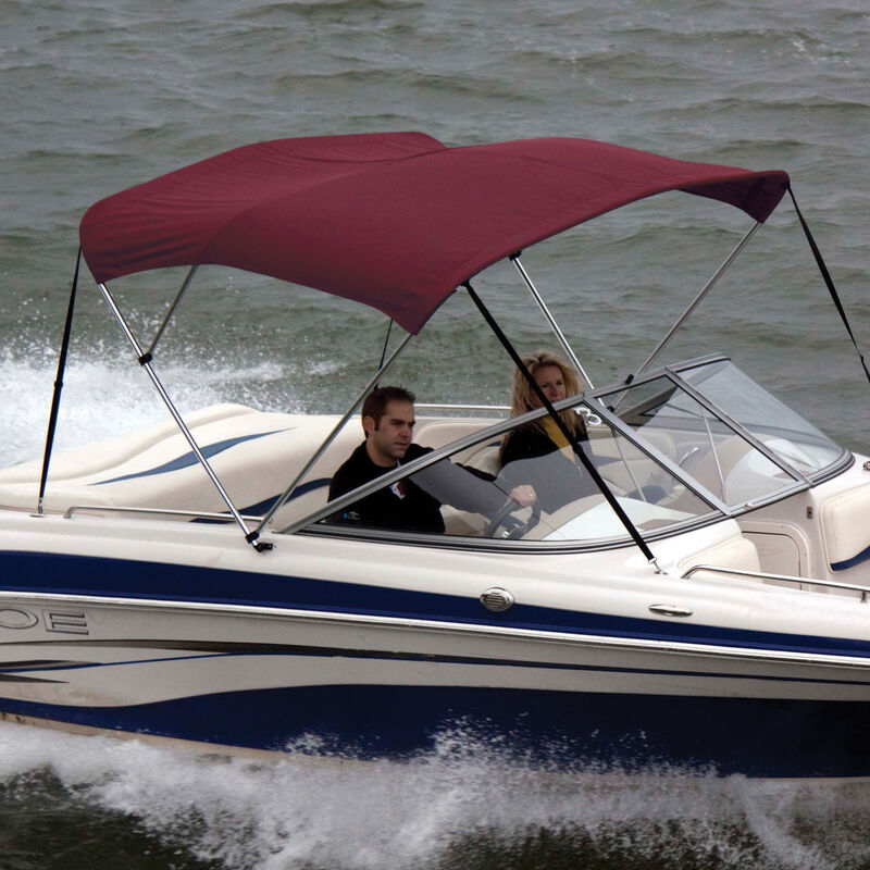 """Bimini Top Polyester Fabric and Boot Only, 3-Bow 6'L, 46""""/54""""H, 54""""-60""""W image number 5"""