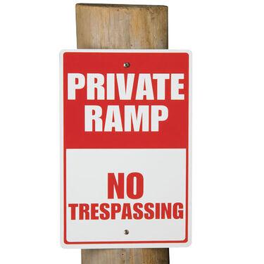"""Aluminum """"Private Ramp"""" Dock Sign"""