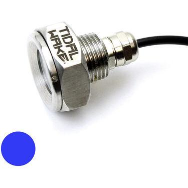 "Tidal Wake Underwater LED Boat Drain Plug Light – Plug N' Play, 1/2"" Thread, Blue"