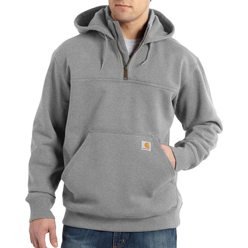 Carhartt Men's Rain Defender Paxton Heavyweight Hooded Zip Mock Sweatshirt image number 3