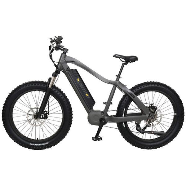 "QuietKat Ambush 750-Watt electric Mountain Bike 17"", Charcoal"