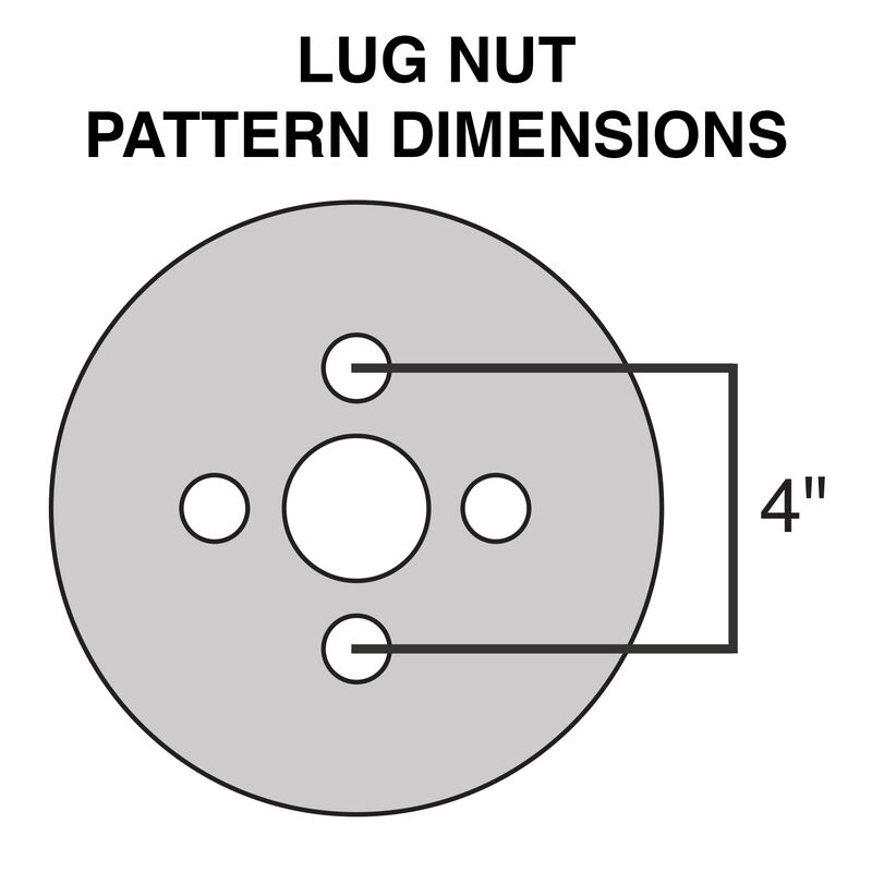 Tredit H188 5.30 x 12 Bias Trailer Tire, 4-Lug Spoke White Rim image number 2