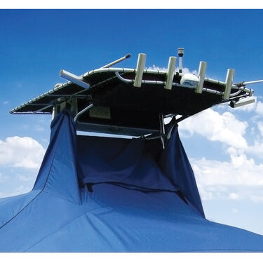 """Taylor Made Cover For Boats With Fixed T-Tops and Bow Rails, 22'4"""" x 102"""""""