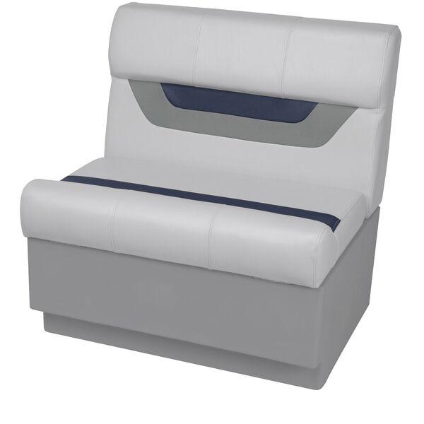 "Toonmate Designer Pontoon 27"" Wide Bench Seat, Sky Gray"