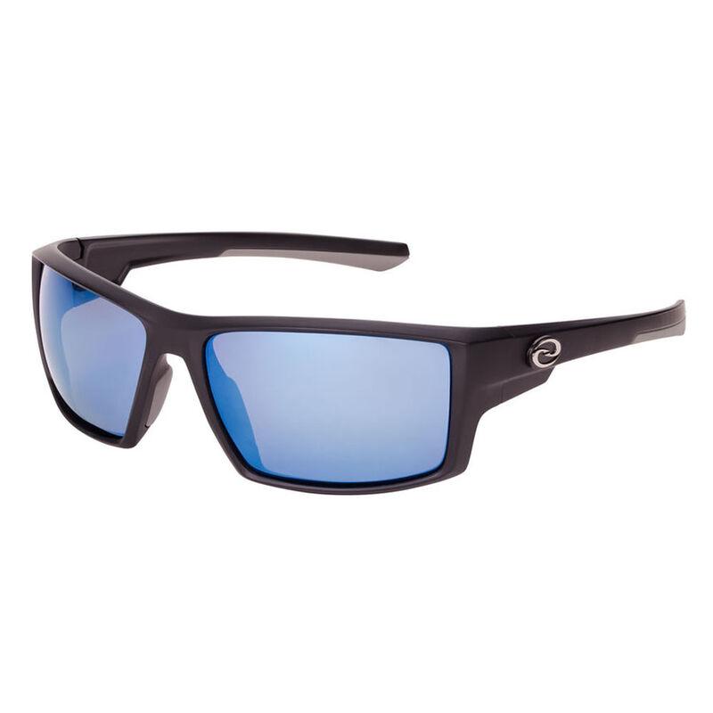 Strike King S11 Pickwick Sunglasses - Matte Black Frame/White-Blue Mirror Lens image number 1