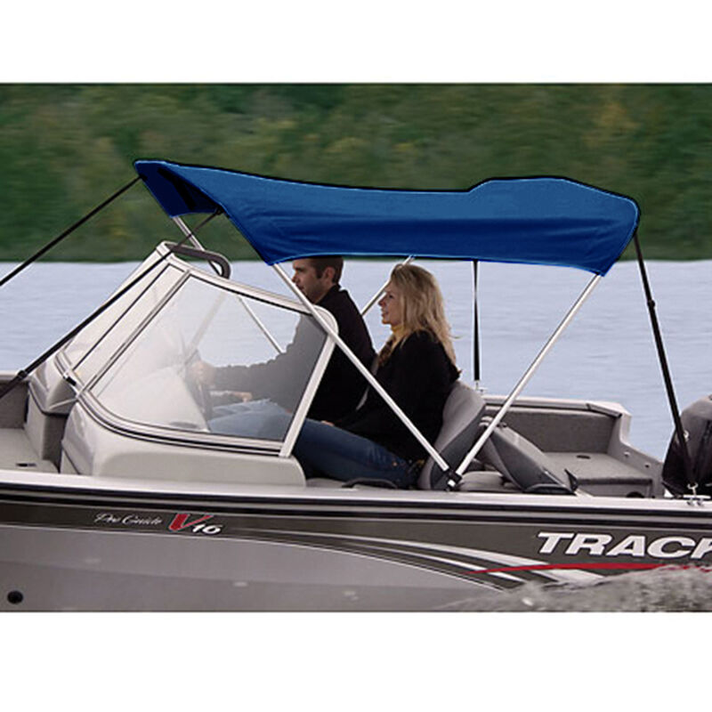 """Shademate Polyester 2-Bow Bimini Top, 5'6""""L x 42""""H, 61""""-66"""" Wide image number 5"""
