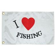 I Luv Fishing Boat Flag