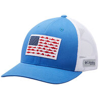 Columbia Men's PFG Mesh Snap-Back Fish Flag Ball Cap