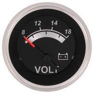 """Sierra Black Sterling 2"""" Voltmeter"""