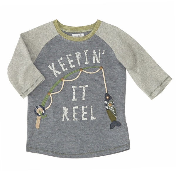 Mud Pie Boys' Keep It Reel Long-Sleeve Tee