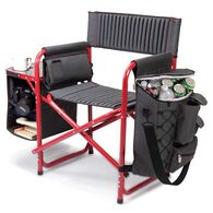 Fusion Chair, Dark Gray with Red