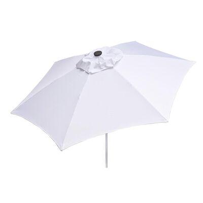White 8.5 ft Market Umbrella