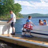 "Stow 'N Go Fiberglass Dock Box White Small Low-Profile (20""H x 40""W x 19""D)"
