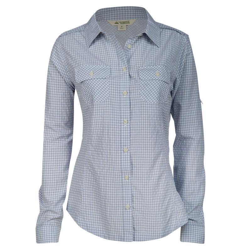 Ultimate Terrain Women's Trailhead Bug Repel Long-Sleeve Plaid Shirt image number 15