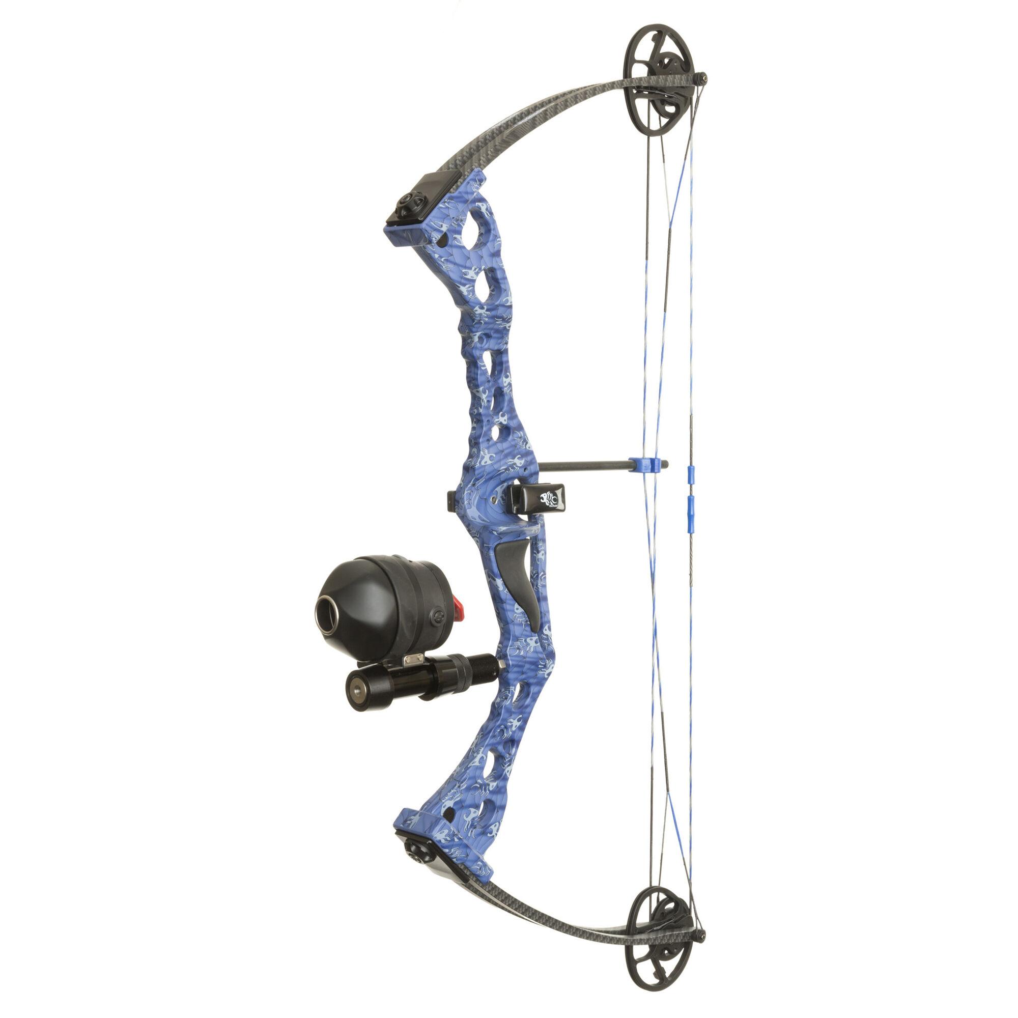 40lb Bowfishing Fishing Reel Takedown Recurve Bow Hunting Fish Target Arrows RH