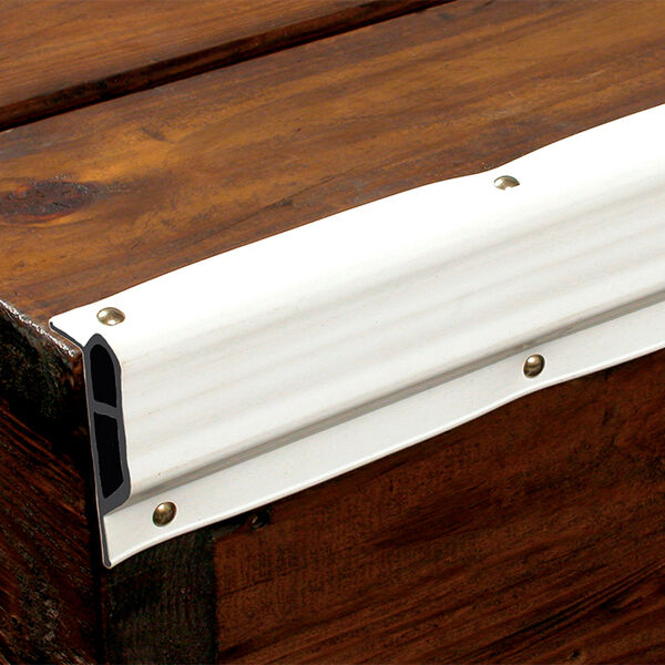 Dock Pro Vinyl Dock Edging White Small Edge Gard 10' Coil