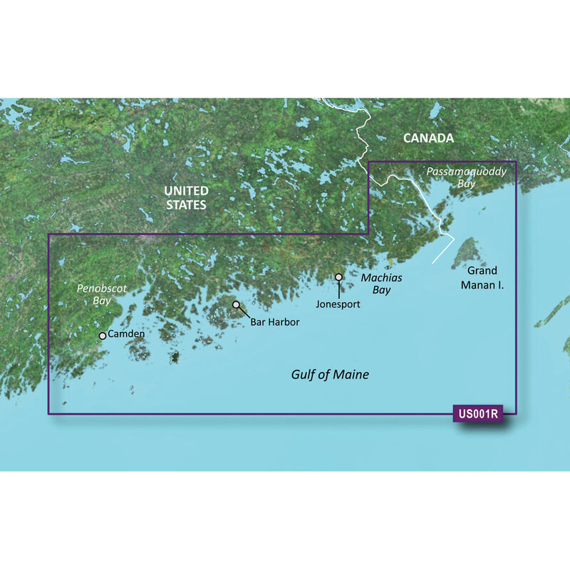 Garmin BlueChart g2 Vision HD Cartography, North Maine image number 1