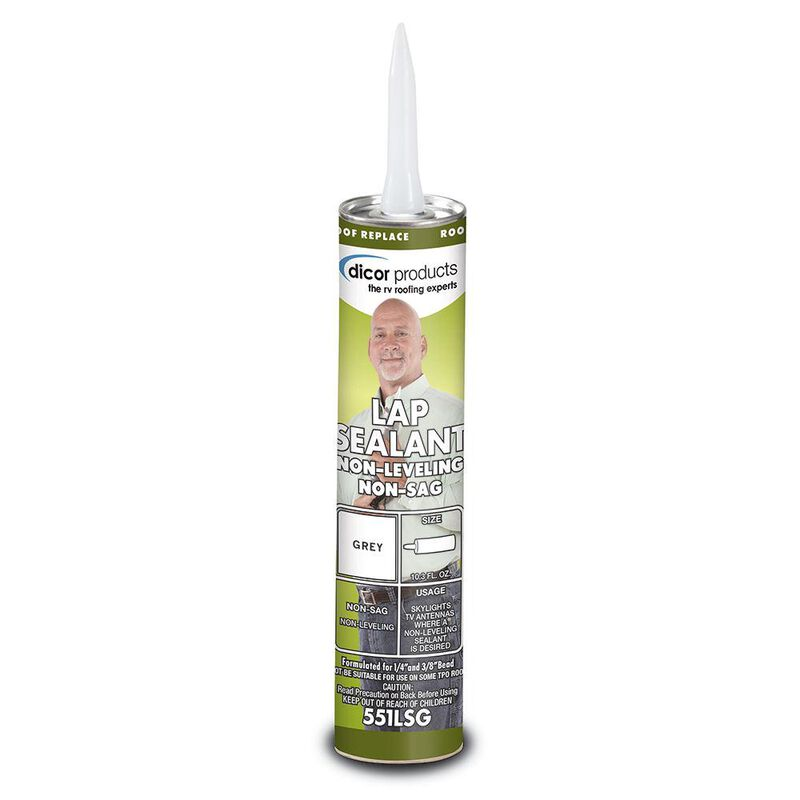 Non-Sag Lap Sealant, 10.3 oz. tube - Gray image number 1