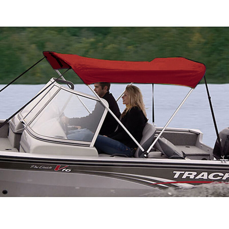 """Shademate Polyester 2-Bow Bimini Top, 5'6""""L x 42""""H, 61""""-66"""" Wide image number 11"""