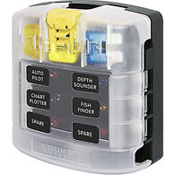 Blue Sea Common Sourced ST Blade Fuse Block - 6 Circuits w/Cover