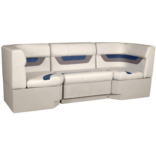 "Designer Pontoon Furniture - 86"" Rear Seat Package, Platinum/Midnight/Mocha"