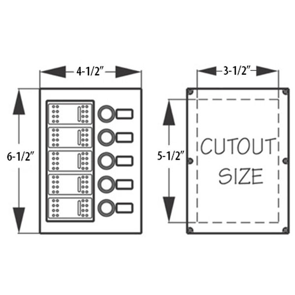 Sea-Dog Wave 5 Circuit Breaker Panel