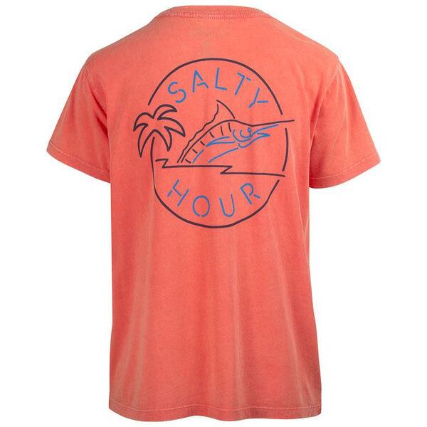 Salt Life Women's Salty Hour Salt Wash Boyfriend Short-Sleeve Pocket Tee