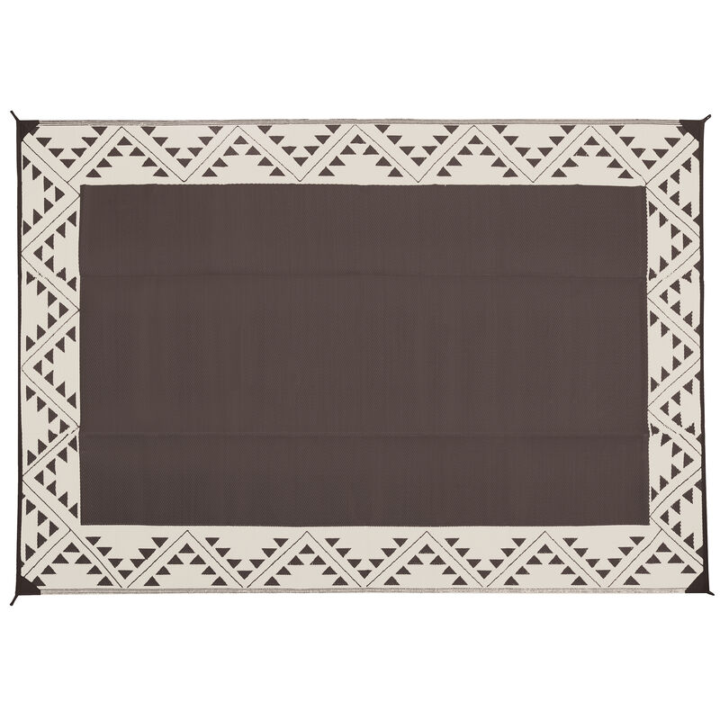 Reversible RV Patio Mat with Aztec Border Design image number 16