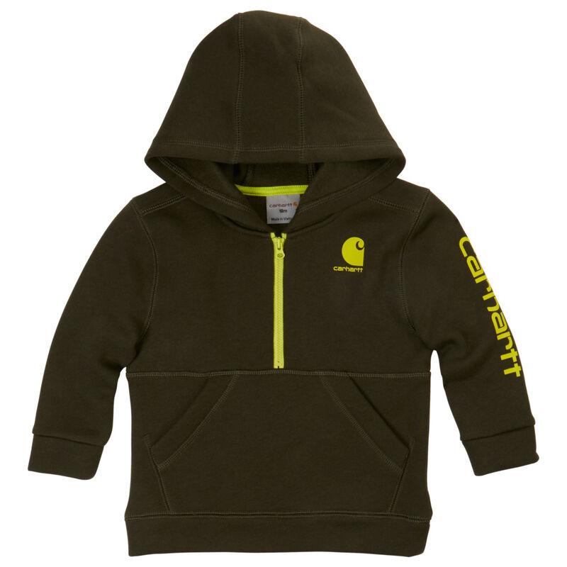Carhartt Child's Blaze Logo Fleece Half-Zip Sweatshirt image number 2