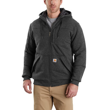 Carhartt Men's Rain Defender Rockland Quilt-Lined Full-Zip Sweatshirt