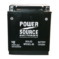 Power Source Sealed Battery, WPX30CL-BS, 12V 30Ah
