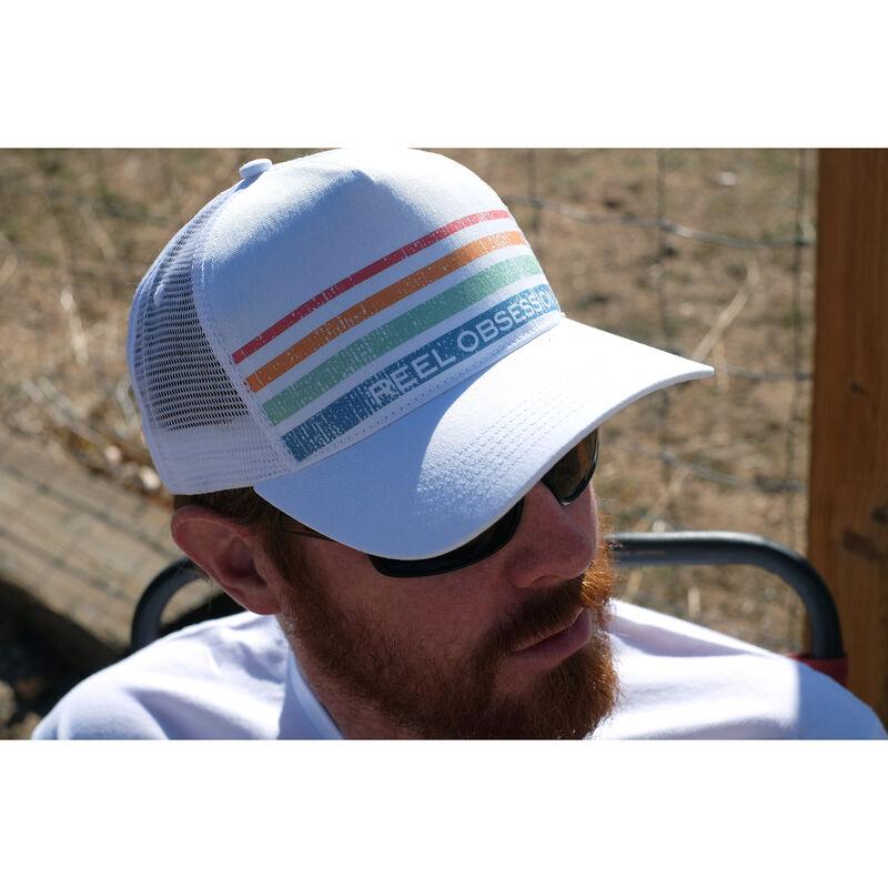 Reel Obsession Men's Vintage Stripe Trucker Hat image number 3
