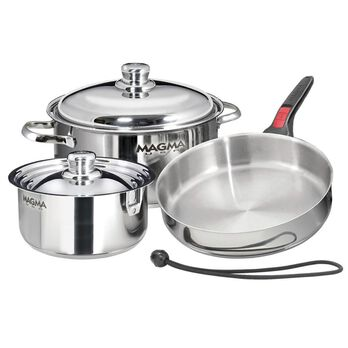 "Magma 7-Piece ""Nesting"" Stainless Steel Induction Cookware Set"