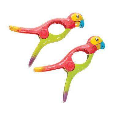 Boca Towel Clips, Set of 2, Parrots