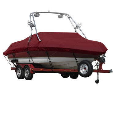 Exact Fit Covermate Sharkskin Boat Cover For TIGE PRE 21i RIDER S EDITION w/WAKEBOARD TOWER COVERS SWIMPLATFORM