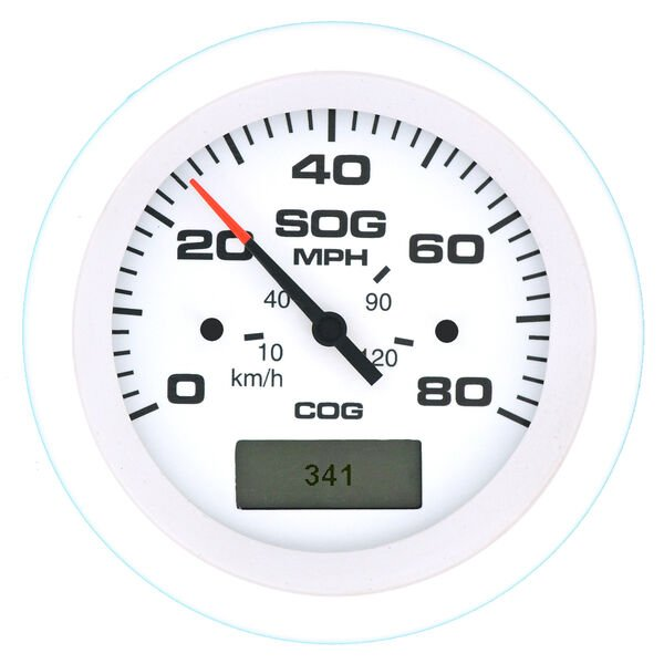 "Sierra Arctic 3"" GPS Speedometer With LCD Heading Display, 80 MPH"