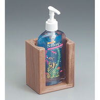 SeaForce Teak Liquid Soap Holder for 10-1/2 oz. Bottle